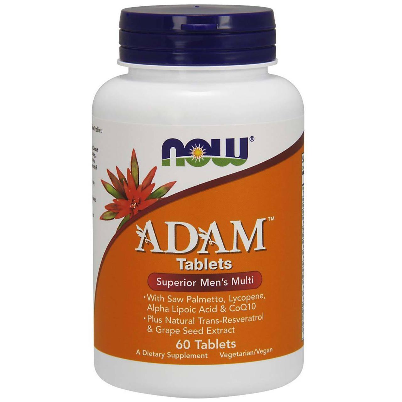 Супер Мультивитамины для Мужчин, Adam, Now Foods, 60 таблеток