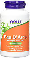 NOW - Pau D Arco 500mg (100 caps) / Экстракт Коры Муравьиного Дерева (Пау Дарко)