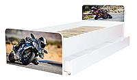 Кровать для подростка Мотоцикл серия Beverly, кровать односпальная 80*190, кровать на ламелях