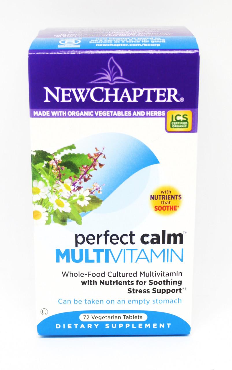 Успокоительные Мультивитамниы, Perfect Calm, New Chapter, 72 таблетки
