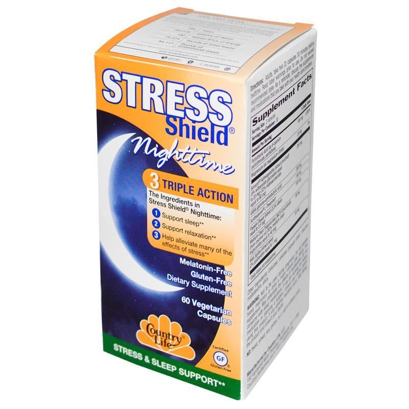 Комплекс для Здорового Сна, Stress Shield, Country Life, 60 гелевых капсул