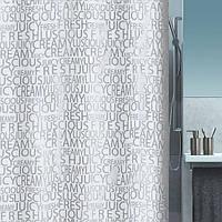 Шторка д/ванной polyester CREAMY 180х200  сріблястий_10.16276