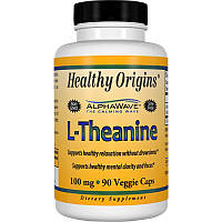 Теанин 100мг, Healthy Origins, 90 гелевых капсул