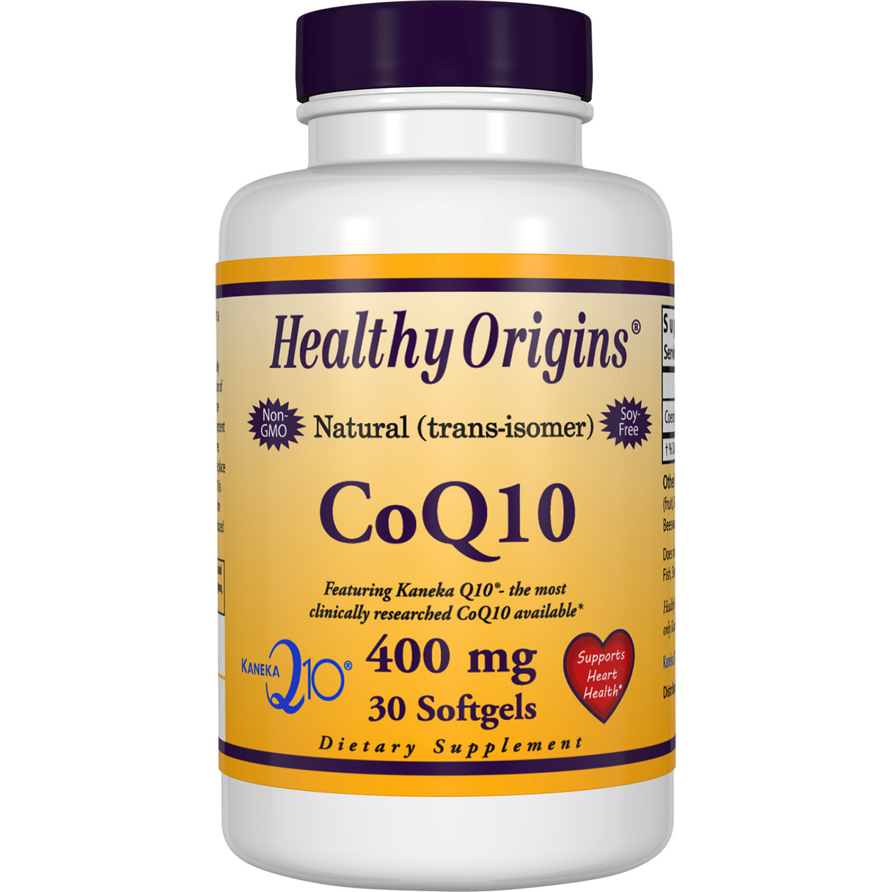Коэнзим Q10 400мг, Healthy Origins, 30 желатиновых капсул