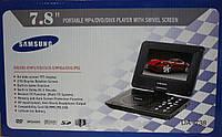 """Портативный телевизор samsung da-738 с функцией dvd-плеера и мр3-проигрывателя, компактные размеры, экран 7,8"""""""