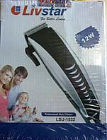 Стрижка волос в домашних условиях, машинка livstar lsu-1532, 4 сменные насадки, питание 220в, боковой рычаг