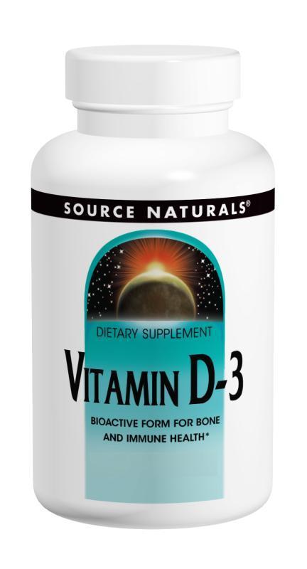 Витамин D-3 2000IU, Source Naturals, 200 капсул