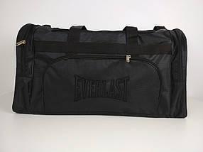 Мужская черная спортивная сумка 62*34*30 см, фото 2