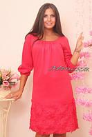 Женское стильное молодежное платье в размерах норма и батал Гламур / трикотаж