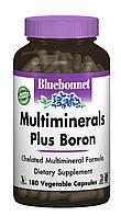Мультиминералы + Бор з Залізом, Bluebonnet Nutrition, 180 гельових капсул