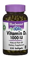 Витамин D3 1000IU, Bluebonnet Nutrition, 250 желатиновых капсул