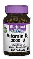 Витамин D3 2000IU, Bluebonnet Nutrition, 100 желатиновых капсул