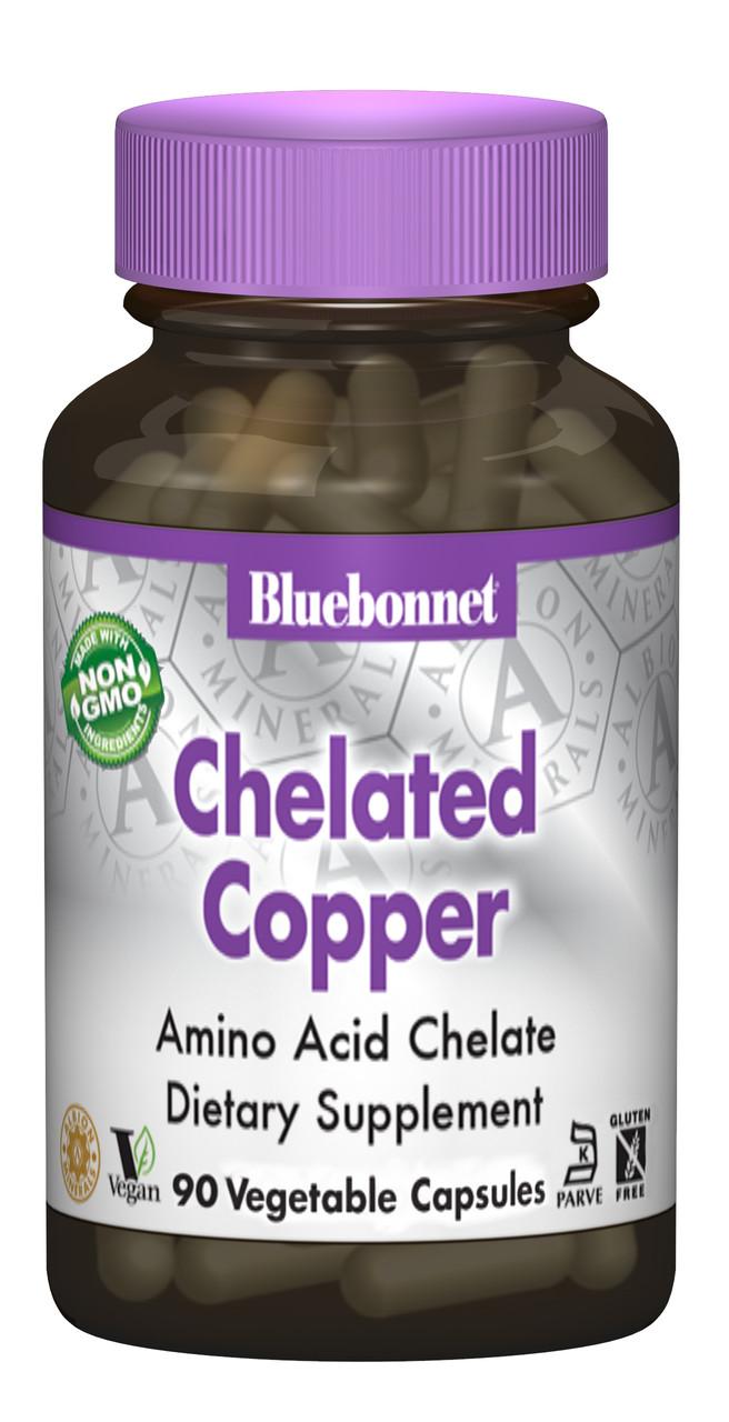 Хелатних Мідь, Albion, Bluebonnet Nutrition, 90 гельових капсул