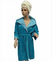 Жіночий халат Arya 13035 темно-бірюзовий