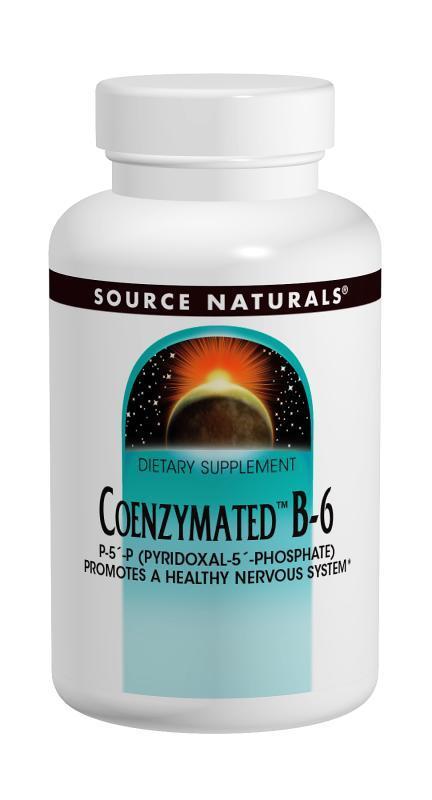 Коензим Вітаміну В6 100мг, Source Naturals, 60 таблеток
