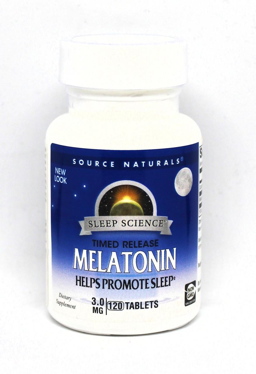 Мелатонин 3мг, Sleep Science, Source Naturals, 120 таблеток