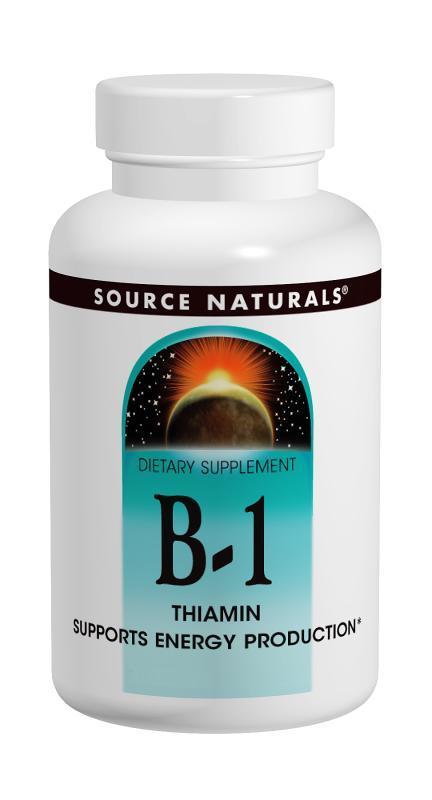 Витамин В-1 100мг, Source Naturals, 250 таблеток