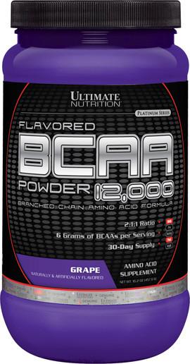 BCAA (Разветвленные Цепи Аминокислот) 12000, Вкус Винограда, Ultimate Nutrition, 1 фунт (454 гр)