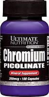 Хром Пиколинат 200мкг, Ultimate Nutrition, 100 капсул