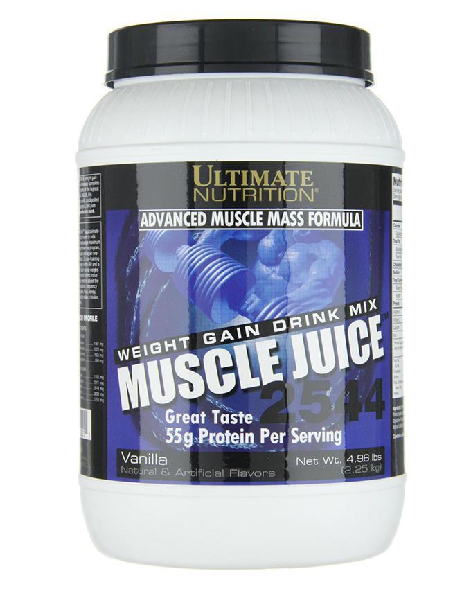 Гейнер, Вкус Ванили, Muscle Juice, Ultimate Nutrition, 4.96 фунта (2,250 кг)