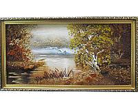 Картина из янтаря Летят гуси (Картины и иконы из янтаря)