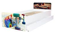 Кровать для подростка Скейт серия Beverly, кровать односпальная 80*190, кровать на ламелях