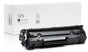 Картридж Canon 725 (чёрный) совместимый, стандартный ресурс (1.600 копий) аналог 3484B002 от Gravitone