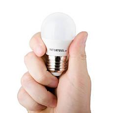 Светодиодная лампа LED 5Вт, E27, 220В, INTERTOOL LL-0112, фото 3