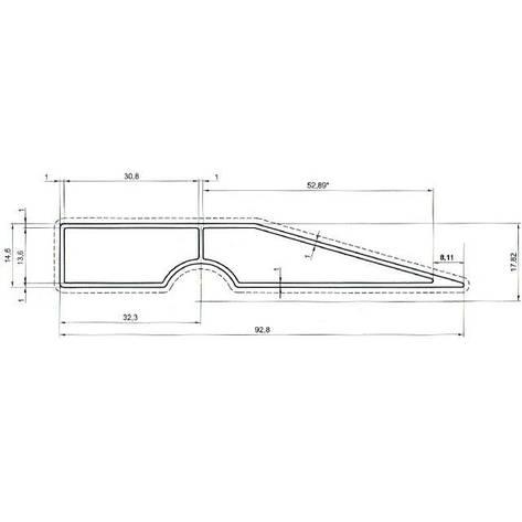 Правило трапециевидное 100см INTERTOOL MT-2210, фото 2