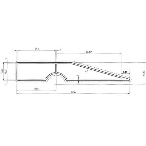 Правило трапециевидное 250см INTERTOOL MT-2225, фото 2