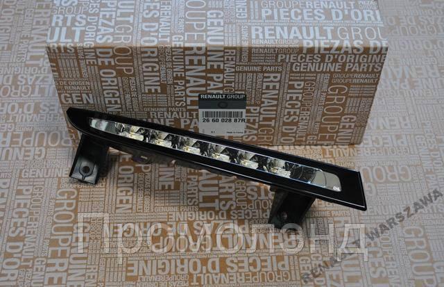 Права фара денного світла LED Megane III - Lift