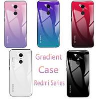 TPU+Glass чехол градиент для Xiaomi Redmi 5 Plus (Разные цвета), фото 1