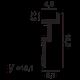 Карниз для скрытого освещения C396, 200 x 6 x 18,5 cm , фото 2