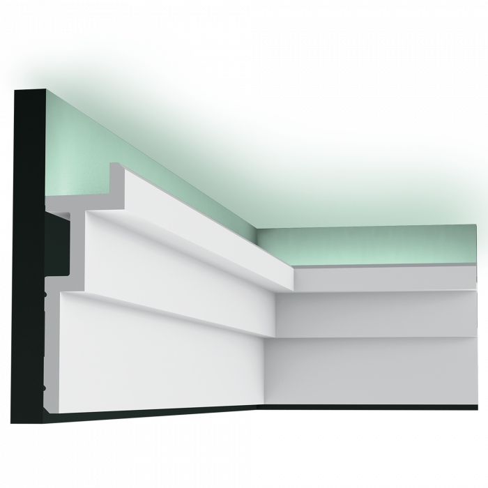 Карниз для скрытого освещения C396, 200 x 6 x 18,5 cm