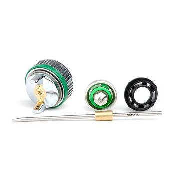 Комплект форсунки 1.0мм для краскопульта HVLP II mini PT-0128 (дюза, воздушная головка, игла) INTERTOOL, фото 2