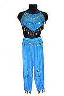 Костюм для восточных танцев детский голубой