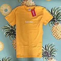 Женская футболка в стиле Supreme | Лого вышивка