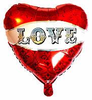 """Шар фольгированный сердце """"Love"""". (Размер: 43см*48см.)"""