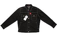 Пиджак мужской джинсовый Crown Jeans модель 411 (MIA) (MIAMI BLACK) VINTAGE DENIM COLLECTION L (48-50)
