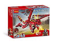 Конструктор DECOOL 3120 CREATOR -  Красный дракон 3в1 (486 дет.), фото 1