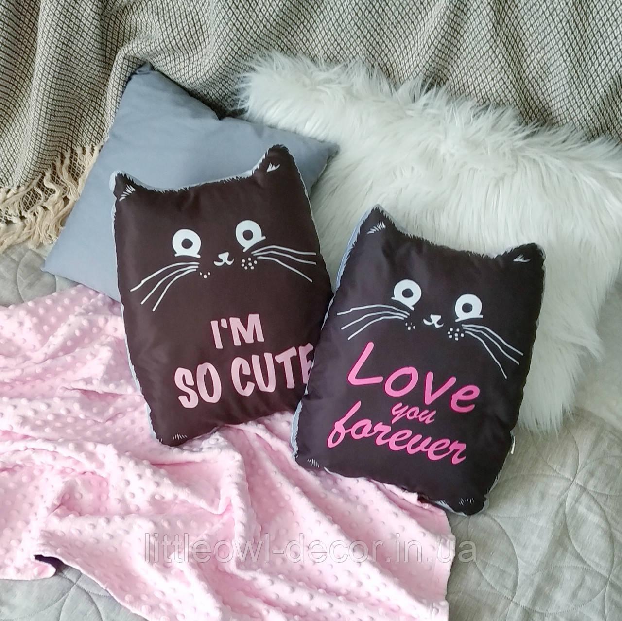 Подушка Cat Love, Cute 37см