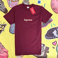 Мужская футболка в стиле Supreme   Лого вышито, фото 1