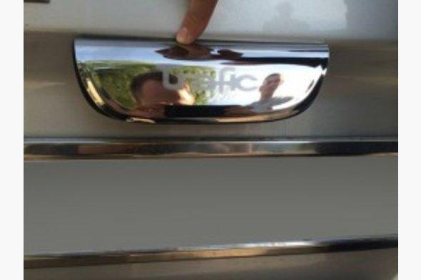 Хром планка над номером (распашные двери, нерж) Opel Vivaro 2001-2015 гг.