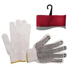 Перчатка х/б трикотаж с точечным покрытием PVC INTERTOOL SP-0005