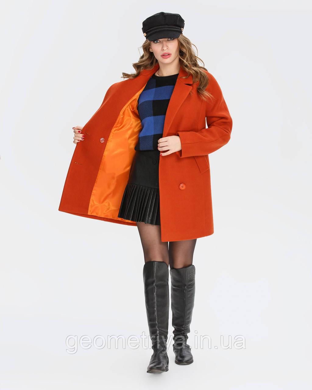 516ec4219a2 Женское весеннее пальто терракотового цвета  продажа
