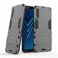 Чехол для Samsung A750 / A7 2018 Hybrid Armored Case темно-серый