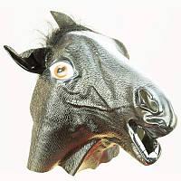 Маска Лошади черная (резина) 250617-019