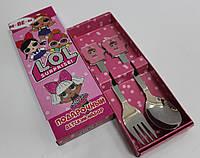 """Набор детских приборов (2 предмета) с любимыми героями мультфильмов """"LOL"""""""