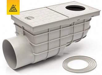 Дощоприймач MCH пластиковий, горизонтальне підключення  DN110, арт.325Gs