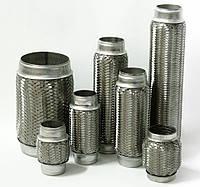 Гофра глушителя выхлопной системы виброкомпенсатор 45 на 200 3-х слойная Getz и приемная труба Matiz Матиз